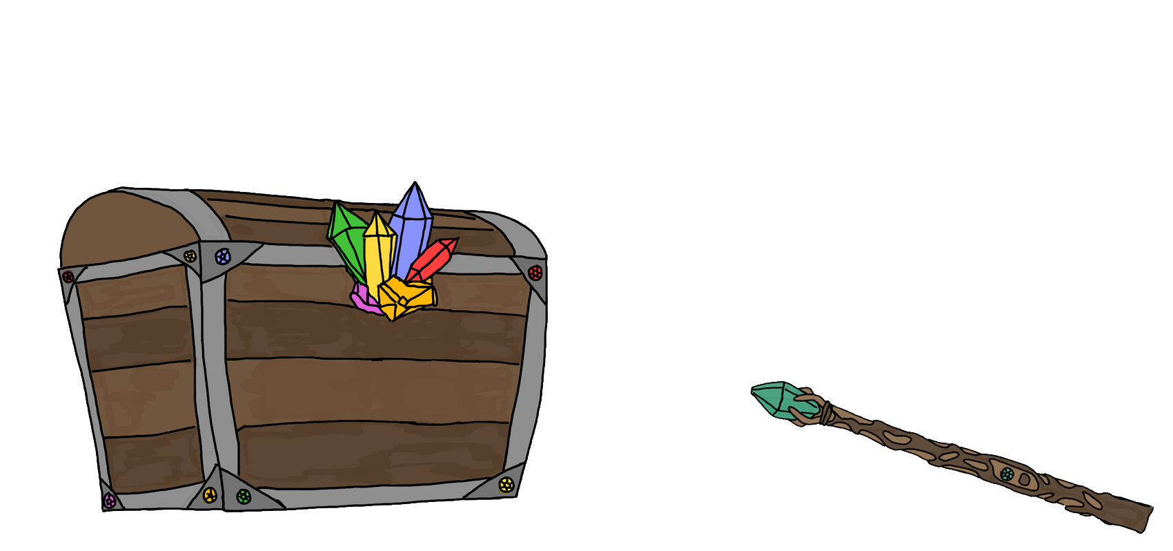 wand and chest