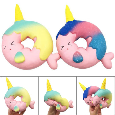Squishy Unicorn Doughnut Slow Rising Squeeze Stress Reliever Toys