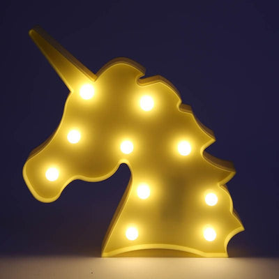 Cute Unicorn Head Led Night Light For Children Bedroom