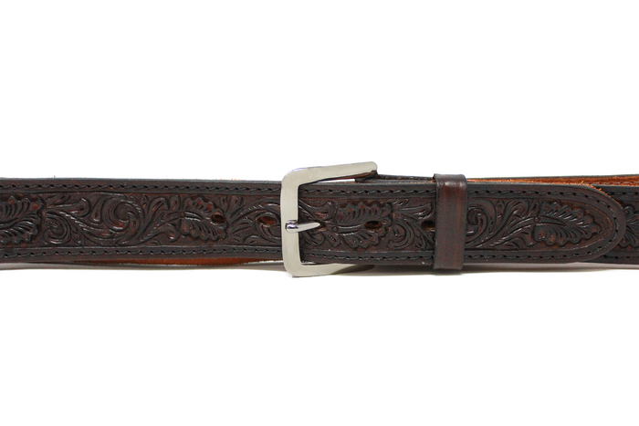 Hand Tooled B-55 Belt - 1.5 Straight (B55)