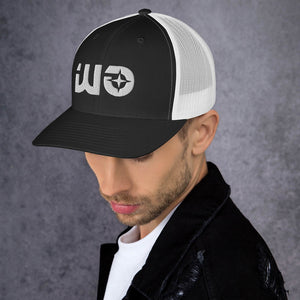 Black and White Way Out Trucker Cap
