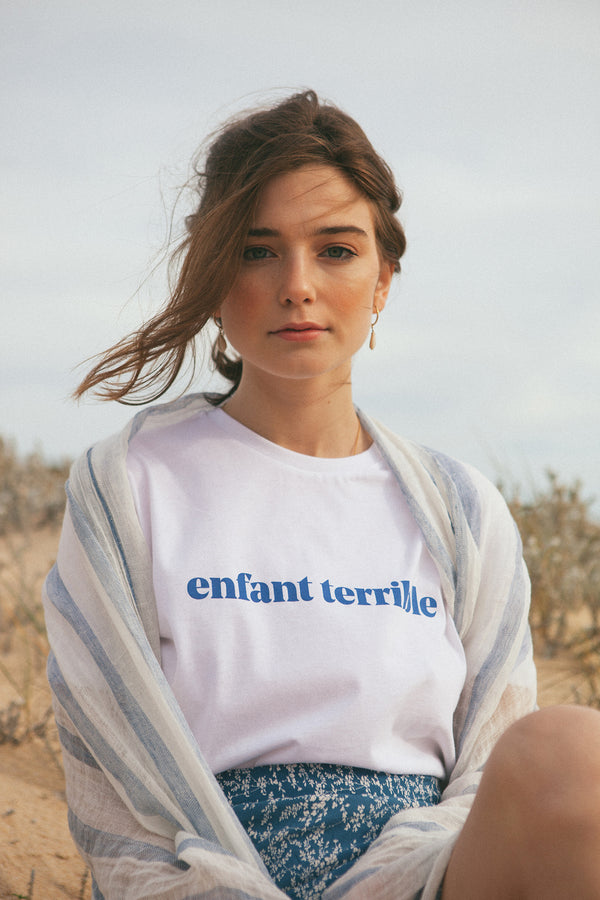 Enfant Terrible T-shirt with blue print