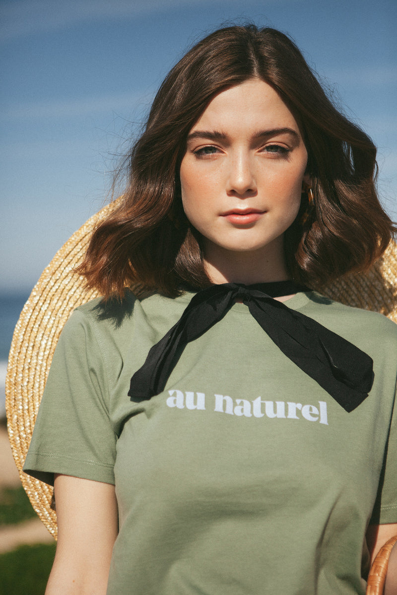 Au Naturel Green T-shirt
