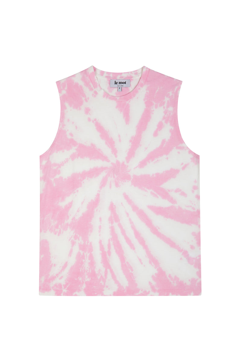 A re-issue of one of our best-sellers, this tie dye piece is one of our coolest t-shirts ever! Made in Portugal from the softest cotton jersey, the tie dye sleveless tee is a very delicate item crafted with a boxy, flowy fit to make you feel sophisticated even in the hottest days.