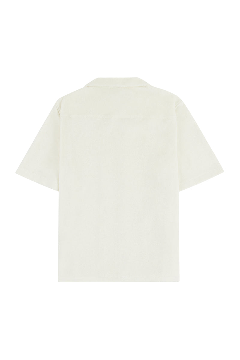 Flat Lay Image of the Short Sleeved Terry Shirt Back