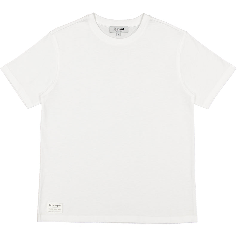 Organic Cotton White Crewneck T-shirt