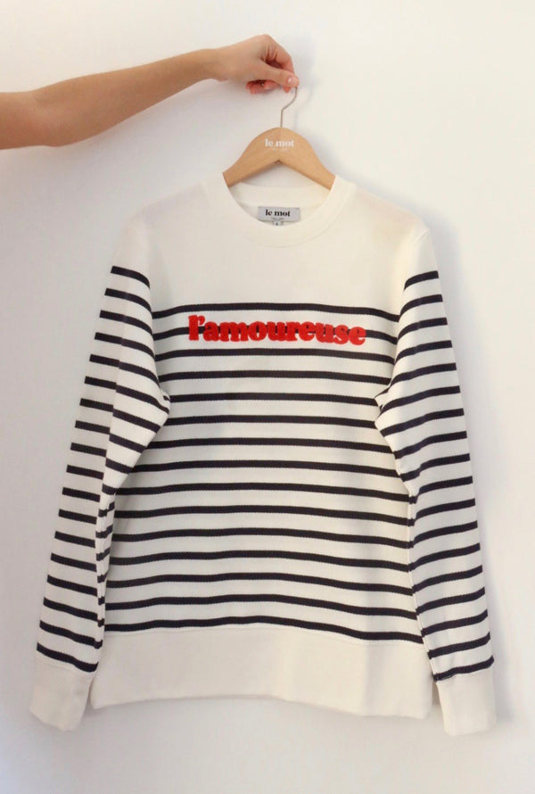L'amoureuse striped sweatshirt