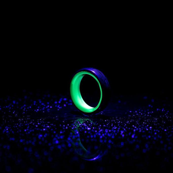 Green Carbon Fiber Lume Ring