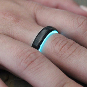 Aqua Carbon Fiber Lume Ring