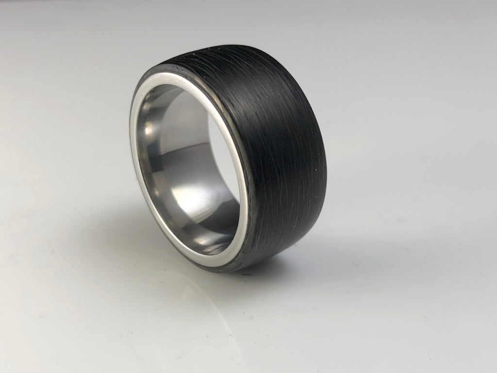 Carbon fiber steel liner 10mm wide size 10.5