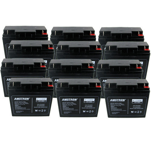 12 x Amstron 12V/18AH UPS Backup Batteries