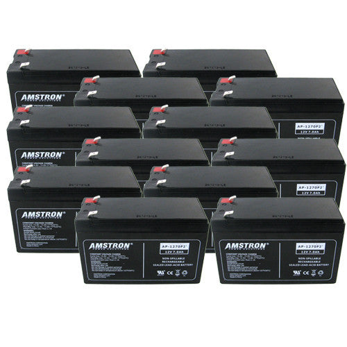 12 x Amstron 12V/7Ah Sealed Lead Acid Batteries