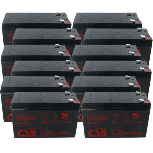 12 x CSB HR1234W UPS Backup Batteries
