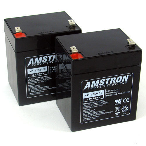 Amstron UPS Backup Battery Replacements - 2xAP-1250F2
