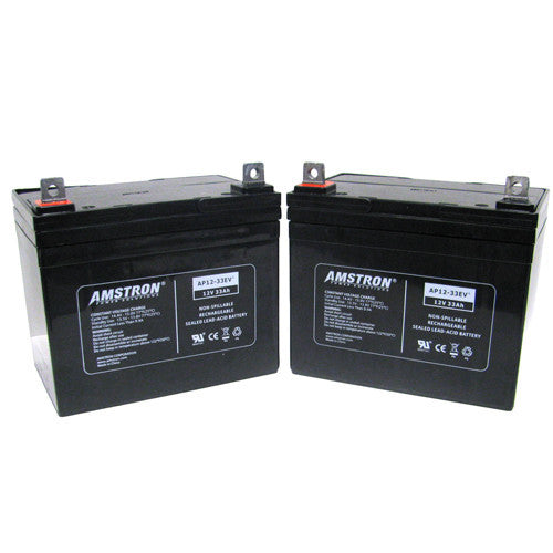 Amstron 12V 33Ah Deep Cycle Battery (2 Pack)