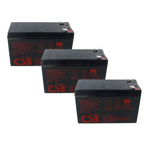 3 x CSB HR1234W UPS Backup Batteries