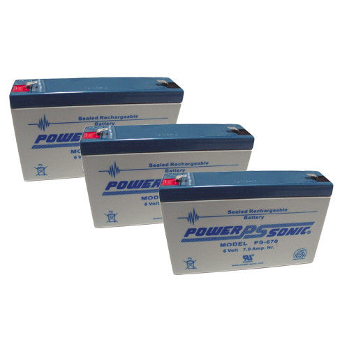 3 x Power-Sonic 6V/7AH UPS Backup Batteries