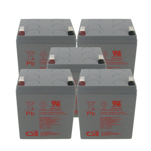 5 x CSB HR1227W High Rate UPS Batteries