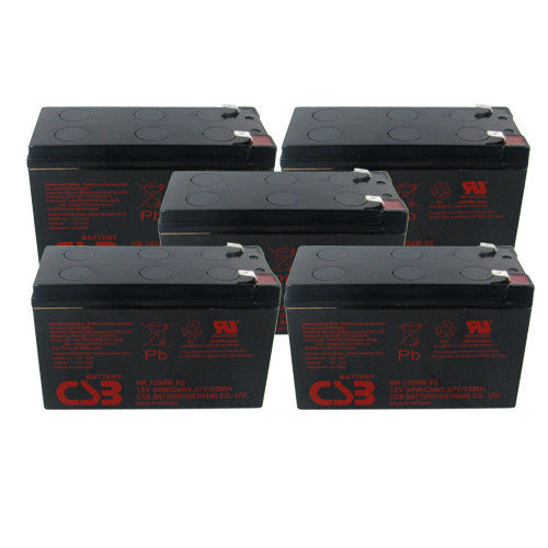 5 x CSB HR1234W UPS Backup Batteries