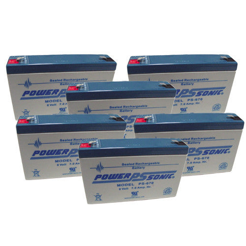 6 x Power-Sonic 6V/7AH UPS Backup Batteries