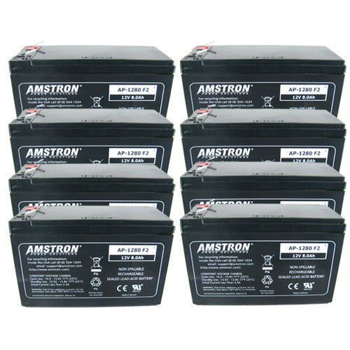 8 x Amstron AP-1280F2 12V/8Ah Sealed Lead Acid Battery