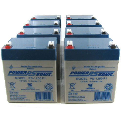Power-Sonic UPS Backup Battery Replacements - 8xPS-1250-F2