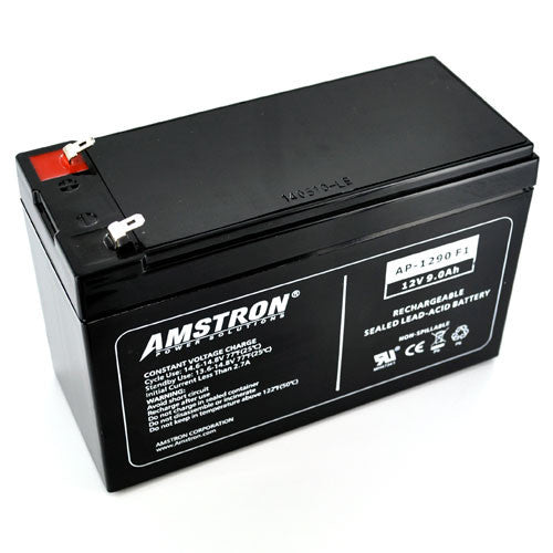 Amstron 12V 9Ah Sealed Lead Acid Battery (F1 Terminal)