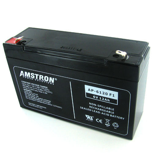 Amstron 6V 12Ah Sealed Lead Acid Battery (F1 Terminal)