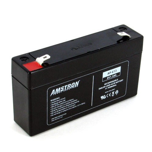 Amstron 6V 1.3Ah Sealed Lead Acid Battery (F1 Terminal)