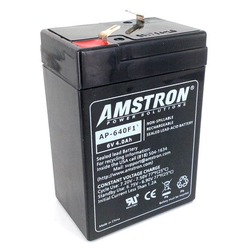Amstron 6V 4Ah Sealed Lead Acid Battery (F1 Terminal)