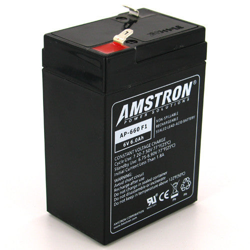 Amstron 6V 6Ah Sealed Lead Acid Battery (F1 Terminal)