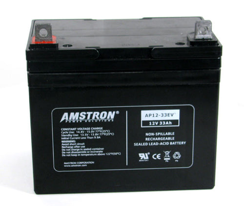 Amstron 12V 33Ah Sealed Lead Acid Battery (NB Terminal)