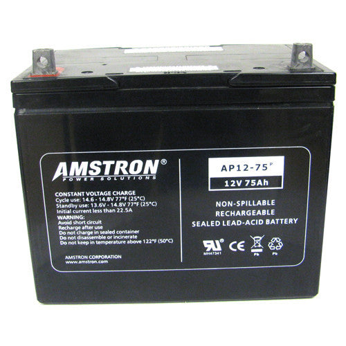 Amstron 12V 75Ah Sealed Lead Acid Battery (NB Terminal)