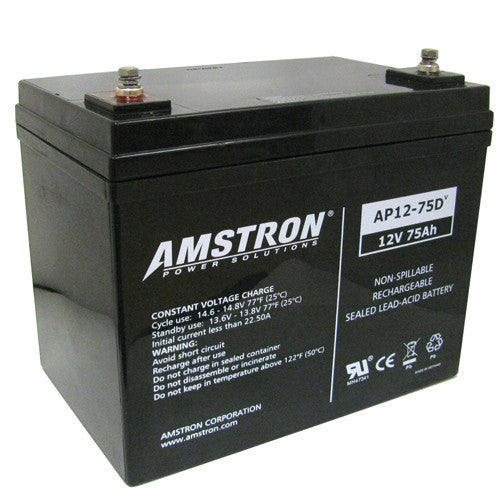 Amstron 12V 75Ah Sealed Lead Acid Battery (R Terminal)