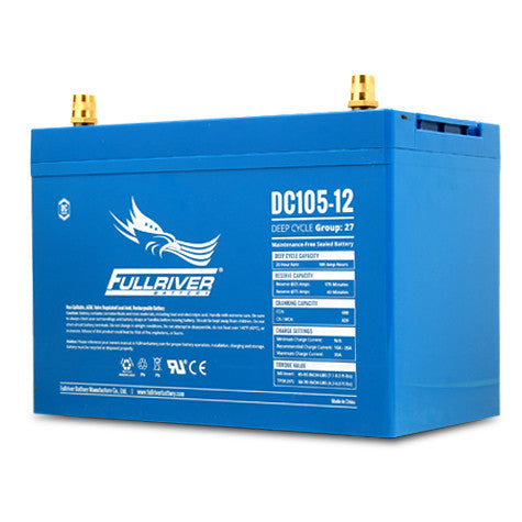 Fullriver DC105-12 Deep Cycle AGM Battery (Size 27)