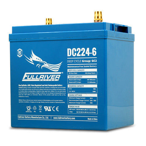 Fullriver DC224-6 Deep Cycle AGM Battery (Size GC2)