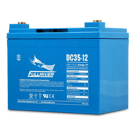 Fullriver DC35-12 Deep Cycle AGM Battery (Size U1)