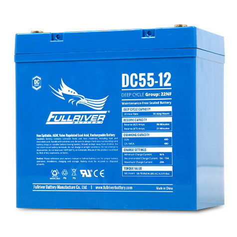 Fullriver DC55-12 Deep Cycle AGM Battery (Size 22NF)