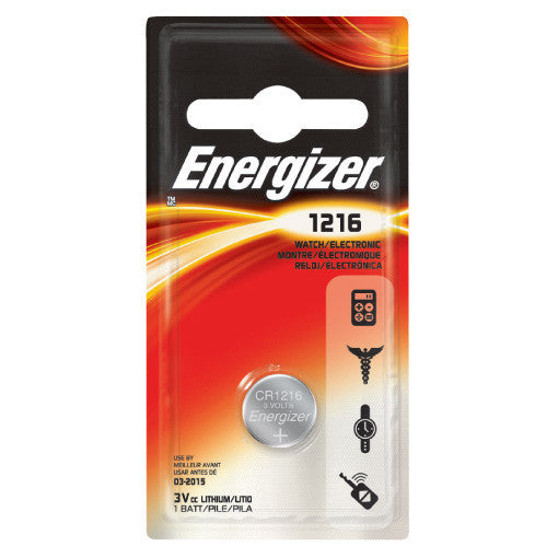 Energizer - ECR-1216BP - Lithium Button Cell Battery