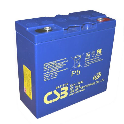CSB EVH12240 12V 24Ah Extended Run High Cycle Battery