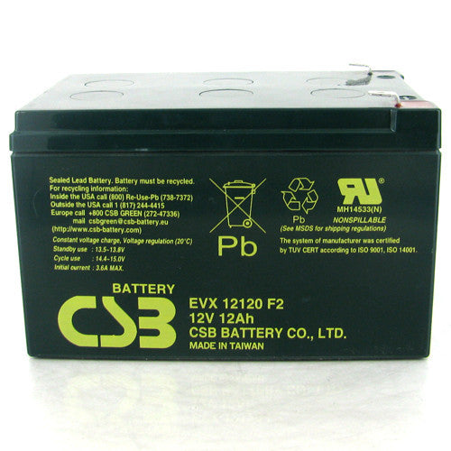 CSB EVX12120 12V 12Ah Deep Cycle AGM Battery