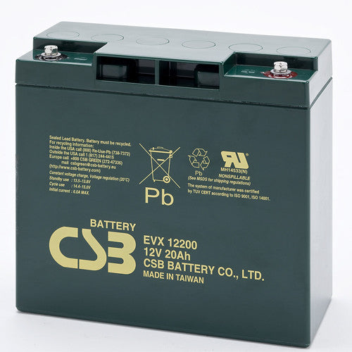 CSB EVX12200 12V 20Ah Deep Cycle AGM Battery