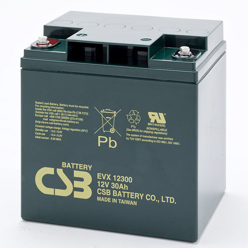 CSB EVX12300 12V 30Ah Deep Cycle AGM Battery