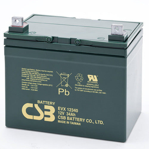 CSB EVX12340 12V 34Ah Deep Cycle AGM Battery