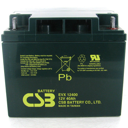 CSB EVX12400 12V 40Ah Deep Cycle AGM Battery