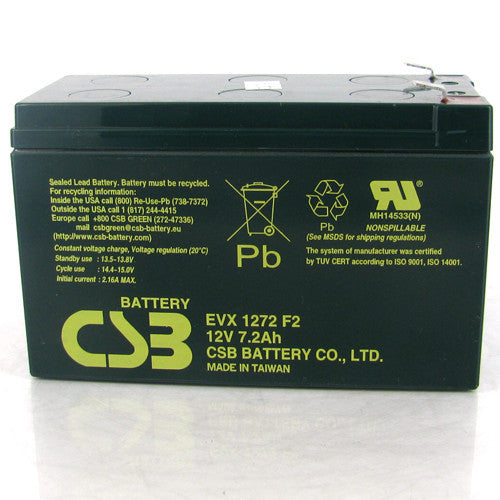 CSB EVX1272 F2 7.2Ah Deep Cycle AGM Battery