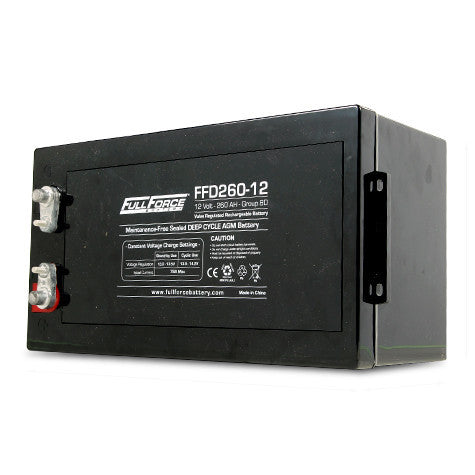 Fullriver FFD260-12 Lead Acid AGM Battery (Size 8D)