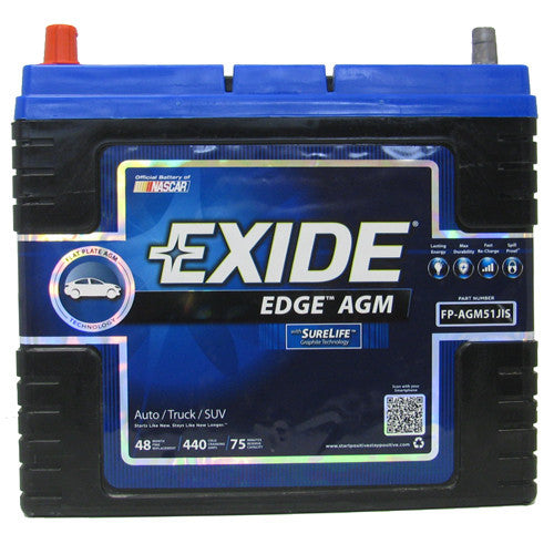 Exide Edge AGM Car Battery - For Toyota Prius