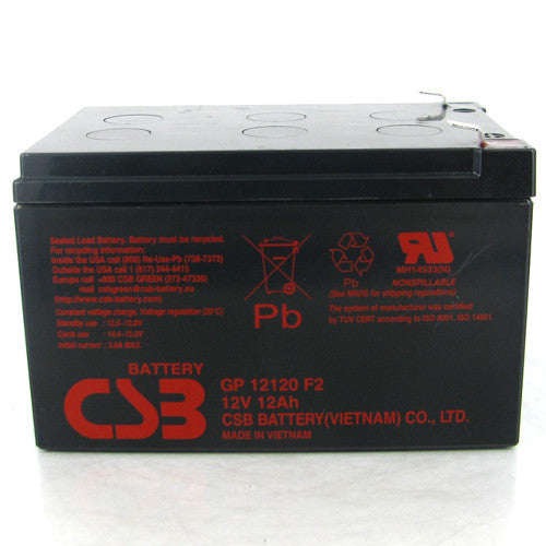 CSB GP-12120F2 12V 12Ah Sealed Lead Acid Battery