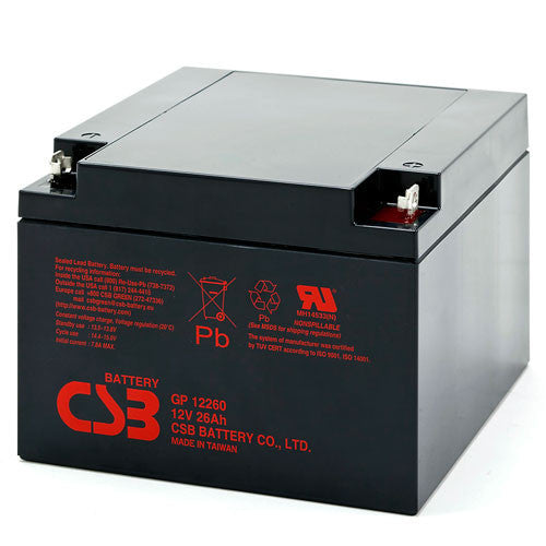 CSB GP-12260NB 12V 26Ah Sealed Lead Acid Battery